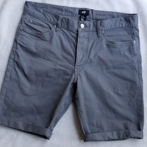 H&M Gray Slim Fit Shorts